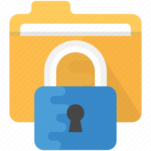 confidential documents, data encryption, data security, information security, secure folder icon