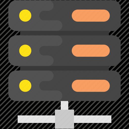 database, database network, network server, networking, server hosting icon