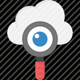 cloud computing concept, cloud search, cloud seo hosting, cloud seo marketing, cloud with magnifier icon