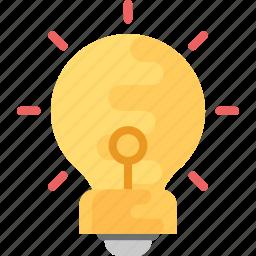 idea, illumination, innovation, invention, lightbulb icon