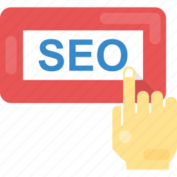 finger touch on seo, search engine optimization, seo, seo text, seo word icon