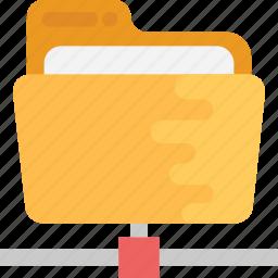 data center, data sharing system, information sharing network, network folder, shared folder icon