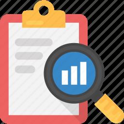 audit sheet, clipboard graph report, financial report, financial statement, survey report icon