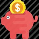 insurance concept, piggy bank, piggy coins, piggy money box, saving