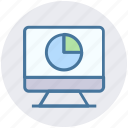 chart, internet, lcd, monitor, seo, site, web page icon