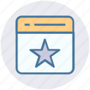 favorite, page, seo, star, tab, web page, website icon
