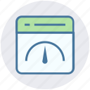 dashboard, meter, page, seo, speed, web page, website icon