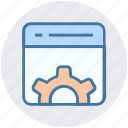 gear, page, seo, setting, setup, web page, website icon