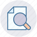 find, magnifier, marketing, page, search, search page, seo icon