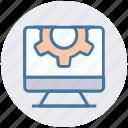 gear, lcd, monitor, seo, setting, setup, site icon