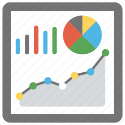 chart, dashboard, graph, graphical representation, statistics icon