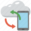 cloud backup, cloud computing concept, cloud network, cloud storage, data synchronization icon