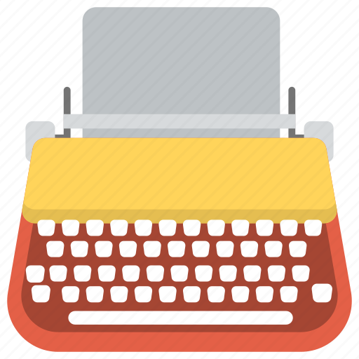 typewriter, vintage typing device, writing, writing app, writing device icon