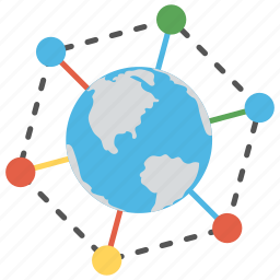 cyberspace, global connections, global network, internet icon