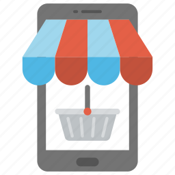 m-commerce, mobile commerce, mobile shop, mobile shopping, online shopping icon