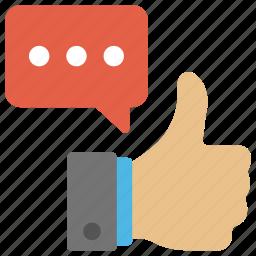 appreciation, customer rating, feedback, rating evaluation, thumbs up icon