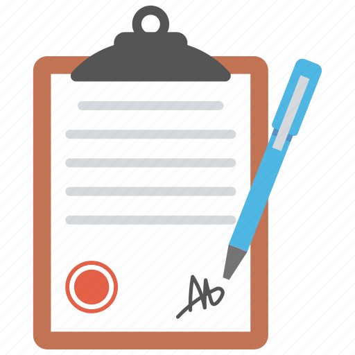 agreement, authorization, business papers, contract, legal document icon