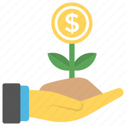 financial growth, financial planning, investing money, money plant, personal finance icon