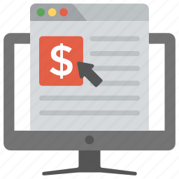 cost per click, digital advertising, online marketing, pay per click, ppc icon