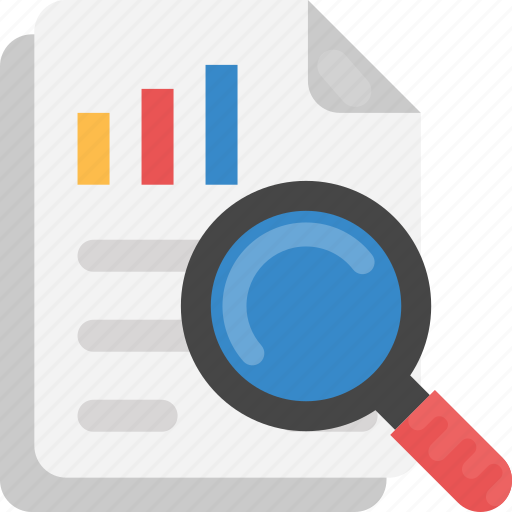 audit sheet, financial report, financial statement, graph report, survey report icon