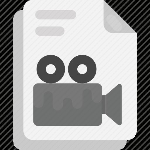 file extension, file format, media file, multimedia file, video file icon