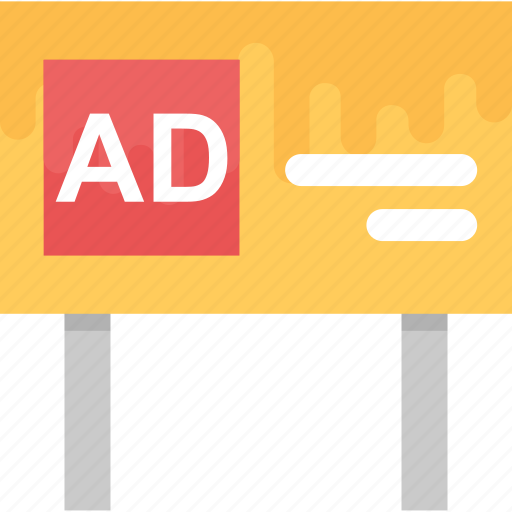 advertisement, advertising banner, advertising board, billboard, commercial advertisement icon