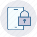 cell, lock, mobile, password, security, seo, smartphone icon