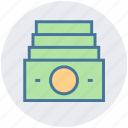 money, notes, dollar, cash, currency, dollar notes, payment icon