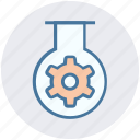 gear, glass, preferences, research, seo, setting, tube icon