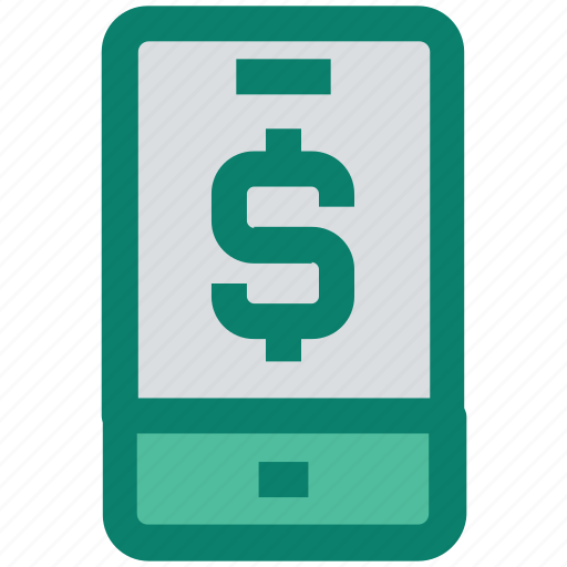 cell, dollar, mobile, money, online payment, seo, smartphone icon