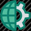gear, globe, internet, marketing, seo, setting, world