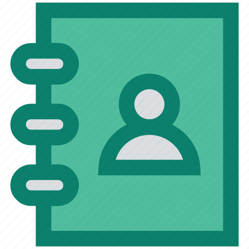 address book, book, manager, marketing, person, seo, user icon