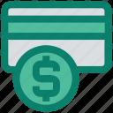 atm card, card, coin, credit card, dollar, master card, money icon