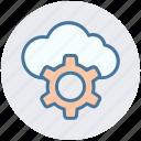 cloud, gear, network, process, seo, service, storage