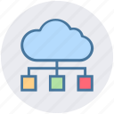 cloud, database, marketing, network, online, seo icon