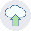 arrow, cloud, marketing, online, seo, up, upload icon