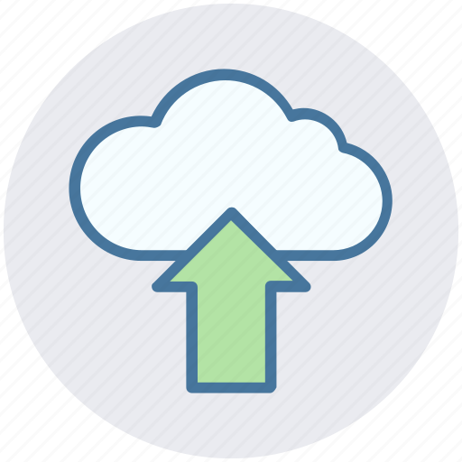 arrow, cloud, marketing, online, seo, up, upload icon