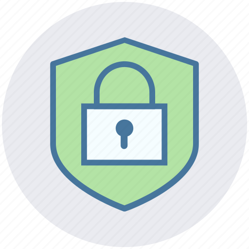 lock, locked, privacy, protection, secure, security, shield icon