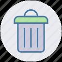 basket, cleaning bin, delete, dust din, recycle bin, seo, trash bin