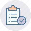 accept, checklist, checkmark, clipboard, document, seo, success icon