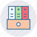 archive, document folder, file cabinet, file folder, file inbox, file storage icon