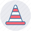 alert, cone, construction, road, stop, traffic, under construction icon