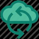 cloud, internet, refresh, reload, seo, sync, web icon