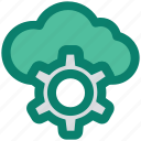 cloud, gear, network, process, seo, service, storage icon