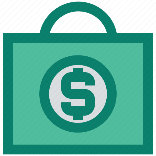 bag, dollar, dollar sign, hand bag, seo, shopping bag icon