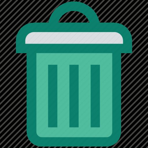 basket, cleaning bin, delete, dust din, recycle bin, seo, trash bin icon
