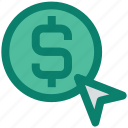 arrow, dollar, online, optimization, pay per click, ppc, seo