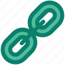 chain, chain link, connection, hyperlink, line, web seo icon