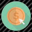 arrow, cursor, doller, money, payperclick icon