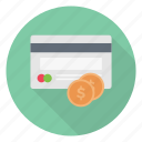 dollar, credit, card, pay, atm icon